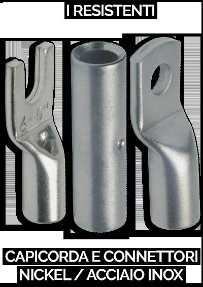 capicorda e connettori nickel e acciaio inox klauke